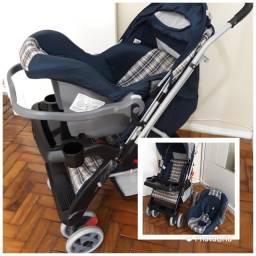 Carrinho reversível + bebê conforto