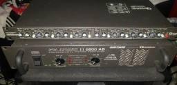 Título do anúncio: Amplificador 6800 e crossover 2341 sg