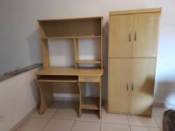Título do anúncio: Mesa computador e armário