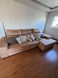 Sofá reclinável 4 lugares com chaise