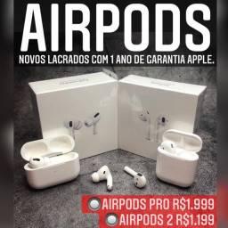 AirPods Pro novo lacrado com 1 ano de garantia Apple.