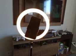 Ring Light Led 10 Polegadas 26cm Com Trípe De 2,10 Metros (Produto Novo e com Garantia)
