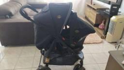 Vendo Kit Carrinho e Bebê Conforto Pouco Usado
