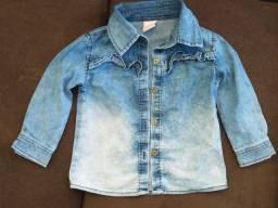 Jaqueta jeans feminina infantil / tamanho: G