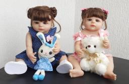 Bebê Reborn Real Keiumi Toda em Silicone, Menina 55 cm Completa Disponível