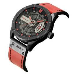 Relógio masculino Curren Red Fashion