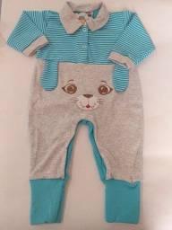 Macacão roupa bebê menino e menina Macacão azul