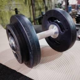 Título do anúncio: kit Dumbell injetado 12 a 30 kg