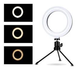 Ring Light De Mesa 6 Polegadas 16cm Iluminação Led Compacto