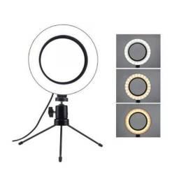 Ring Light Led Iluminador Pequena Tripé 6 Polegada 16cm