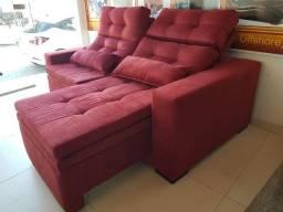 Sofá retratil, reclinável e baú - sofá 3 em 1