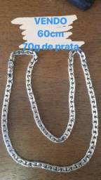 Cordão de prata - pulseira