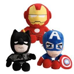 Título do anúncio: Super Herois de Pelucia | Homem de Ferro| Homem aranha | Batman | Super Homem