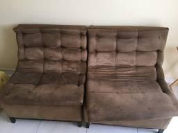 2 sofás de 1 lugar cada