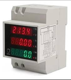 medidor de energia kwh wattimetro voltimetro amperimetro fp