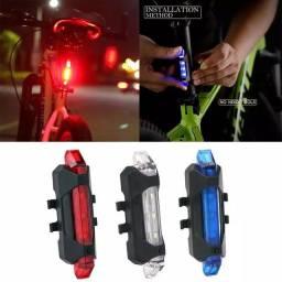 Lanterna Bicicleta Recarregável Traseira