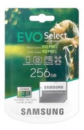 Cartão Micro Sd Samsung 256gb 100mb/s U3 4k Original E.u.a