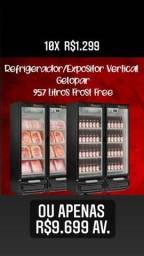 A. Expositor gelopar 957 litros novos usados