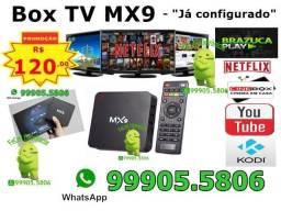 "MX9 Android 7.1 Box - ""Já Configurado"""