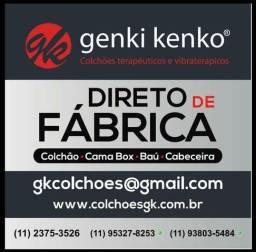Cama box e colchão linha Gold Genki Kenko 5 x R $ 219.00