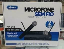 Microfone Duplo sem fio profissional kp 912