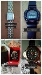 Relógios de colecionador citizen, Casio e Technos semi novos