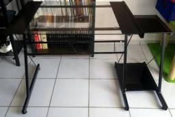 Mesa Para Computador Midnight Preta