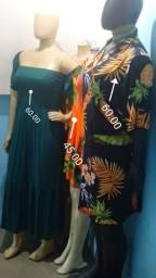 vestidos tecido bom estampado