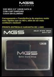 "Ssd Mgs 2,5"" 128gb Sata III . Com 1 ano de Garantia"