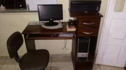 Mesa para computador em madeira Pau Darco