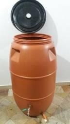 JR Tambores - Bombona Plástico 250 Litros com Torneira ou Registro Esfera