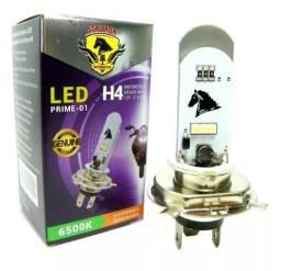 Lampada LED H4 para Moto / Carro Super branca 8000k