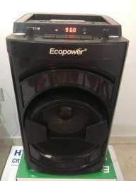 Caixinha de som Ecopower nova