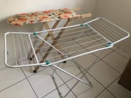 Kit varal de chão + tábua de passar