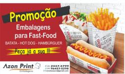 Embalagens para fast food