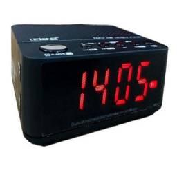Rádio Relógio Digital Despertador Bluetooth Lelong LE-674 Fm