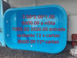 Piscina de fibra instalada 5800 litros