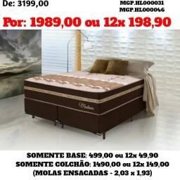 Promoção Curitiba-Conjunto Box de Mola Ensacada King 1,93- Cama Boc