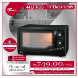 Forno Elétrico Gourmet Grill  Fischer  Black- 44 Litros