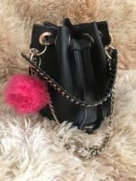 Bolsa saco couro sintético