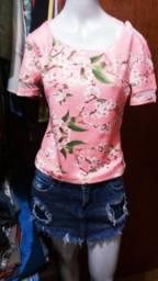 Camiseta+ short saia