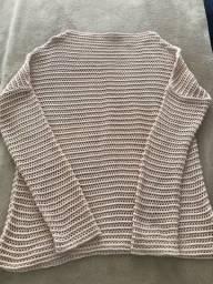 Blusa tecido furado