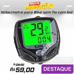 Velocímetro para Bike Sem Fio Com Luz Noturna Aproveite
