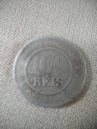Moedas 100 reis 1889