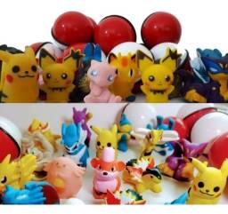 Kit 10 Pokemons + Pokebolas de 3cm e 5cm - Sem Repetir
