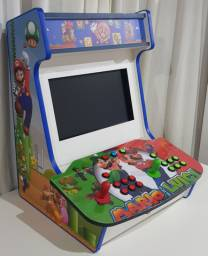 Bartop - Mini-fliperama c/ 11.000 jogos