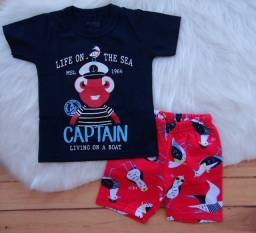 Conjunto Infantil Marisol Play Menino Camiseta Bermuda