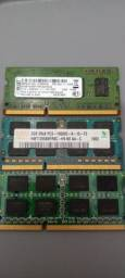 Memória RAM DDr3 2GB para notebook