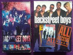 3 vhs Backstreet Boys + cd + K7 + vhs Spice Girls