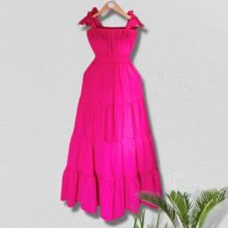 Vestido Festa longo pink- Frete Grátis para Fortaleza